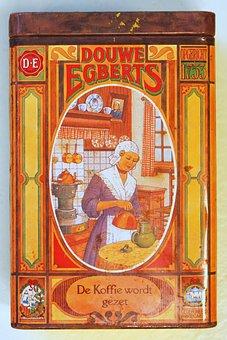 Douwe Egberts, Coffee, Box, Tin, Package, Old, Retro