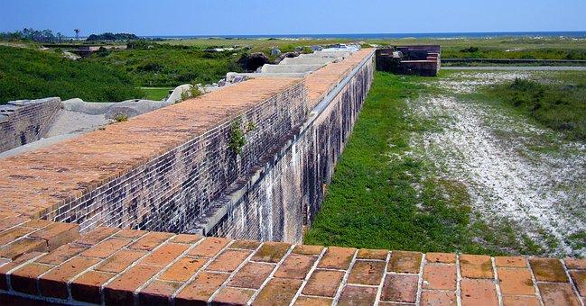 Wall, Bricks, Military Fort, Exterior, Brick Wall