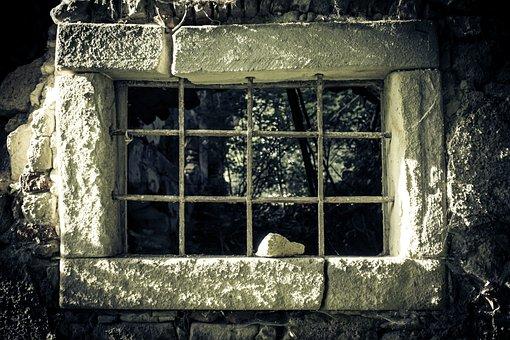 Prison, Prison Window, Window, Ruin, Wall, Broken