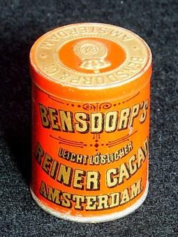 Bensdorps, Cacao, Box, Tin, Package, Old, Retro