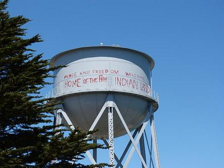 Alcatraz, Water Tower, California, San Francisco