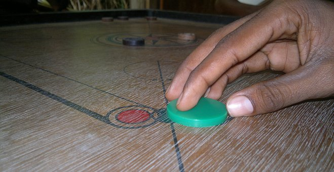 Carrom, Game, Players, Kandy, Ceylon, Sri Lanka