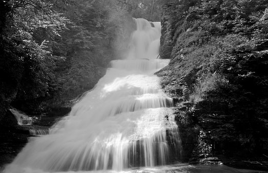 Waterfall, Water, Cascade, Downfall, Chute, Current