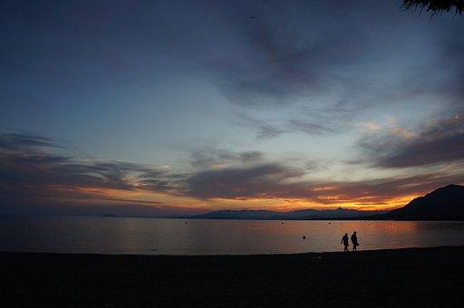 Mazarrón, Castellar, Murcia, Sunset, Beach, Summer