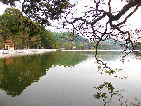 Kandy Lake, Lake, Kandy, Sri Lanka, Mawanella, Ceylon