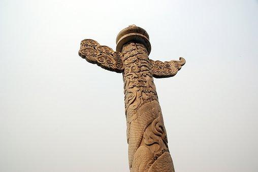 China, Pekin, Beijing, Forbidden City, Palace, Statue