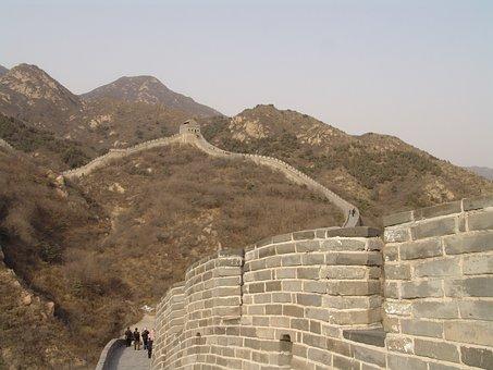 China, Wall, Beijing, Great Wall Of China, Great Wall