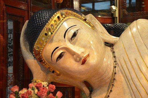 China, Pekin, Reclining Buddha, Head, Buddhism