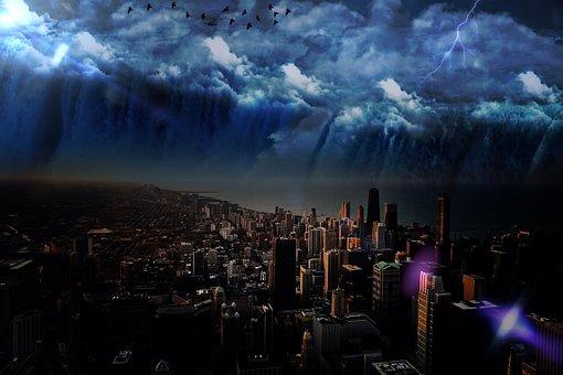 City, Big City, Skyscraper, Skyscrapers, Architecture