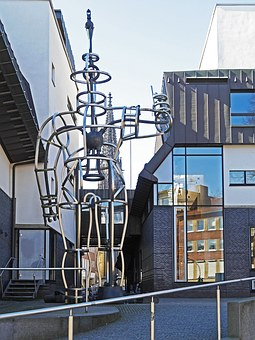 Architecture, Sculpture, Library, City Library, Münster