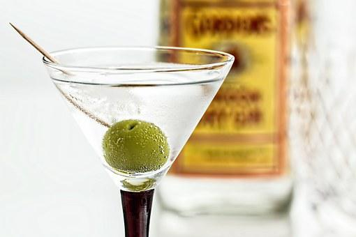 Cocktail, Martini, Gin, Drink, Glass, Alcohol, Beverage
