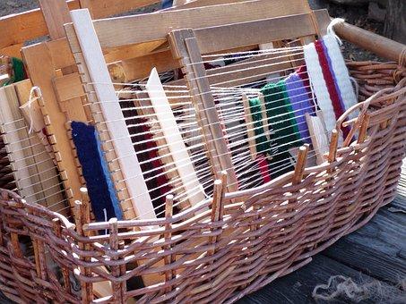 Basket, Weaving, Weave, Wool, Cotton, Linen, Wicker