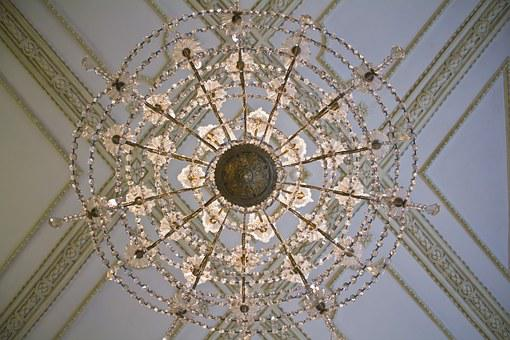 Ceiling, Lamp, Spider, Decoration, Paneling, Detail