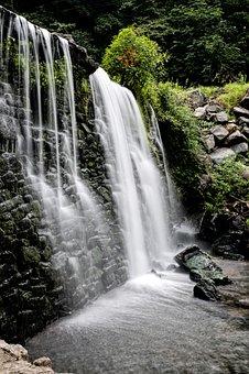 Cascade, Waterfall, Water, Downfall, Chute, Current