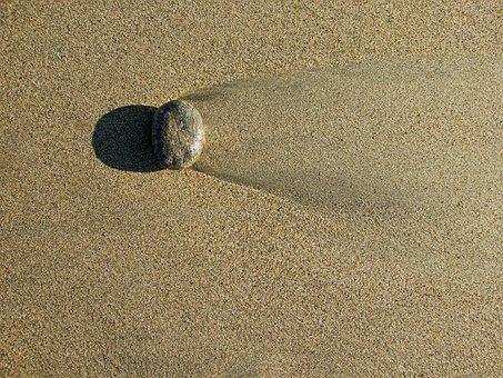 Pebble, Sand, Beach, Seaside, Tide, Tidal, Flow, Ebb