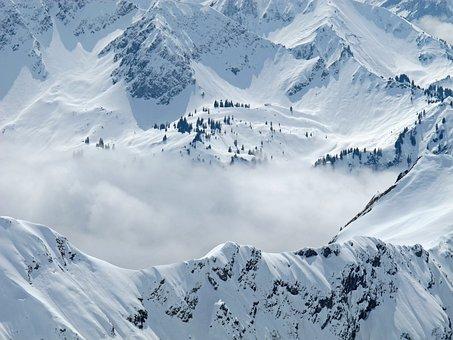 Allgäu, Foghorn, Winter, Mountains, Snow, Wintry