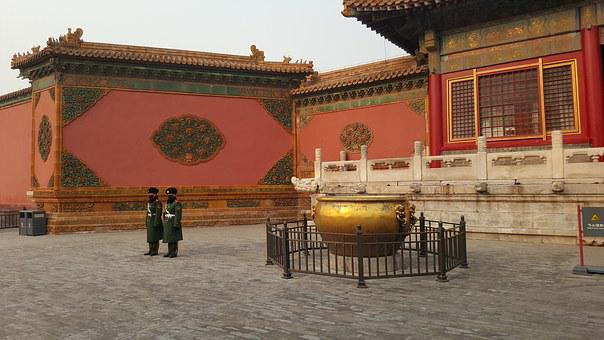 Beijing, China, Forbidden City, Peking, Ancient, Police