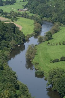 Wye, Forest Of Dean, Forest, Bird's Eye View, River
