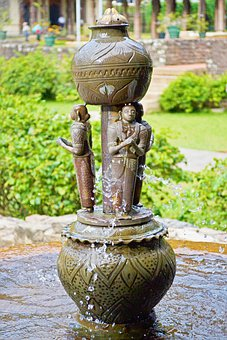 Fountain, Palace, Sri Lanka, Temple Of The Tooth, Kandy
