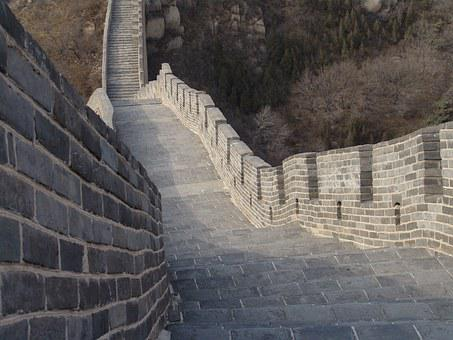 China, Wall, Beijing, Great Wall Of China, Asia