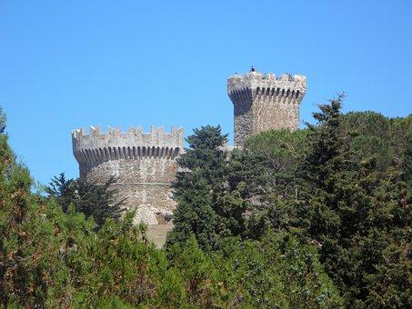 Populonia, Gulf Of Baratti, Castle, Fortress
