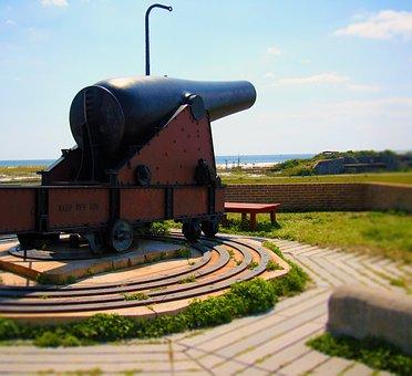 Cannon, Gun, Military Fort, Exterior, Wall, Bricks