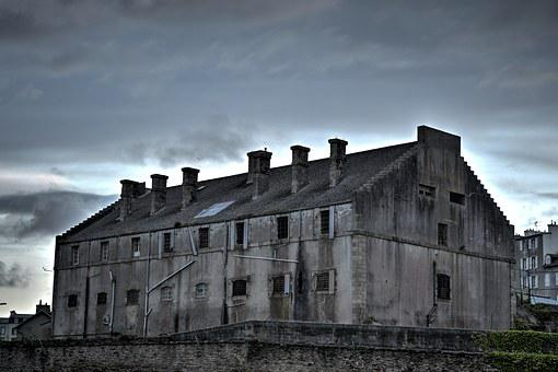 Prison, Former, Old, Building, Haunted, Terrifying