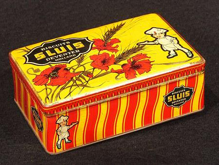Biscuits, Box, Tin, Package, Old, Retro, Historic