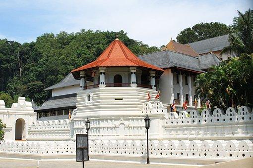 Temple, Kandy, Travel, Architecture, Building, Landmark