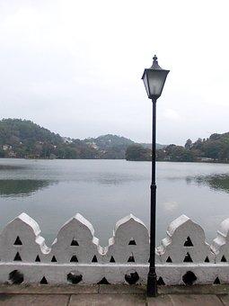 Light Post, Kandy Lake, Evening, Lake, Park, Kandy