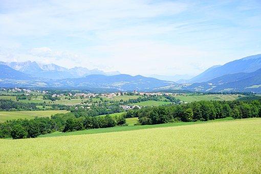 Landscape, Clelles, Percy, France, Outlook, Le Châtel