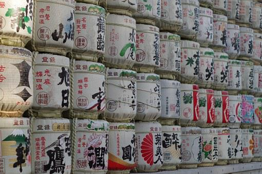 Meiji Jingu Shrine, Keg, Liquor