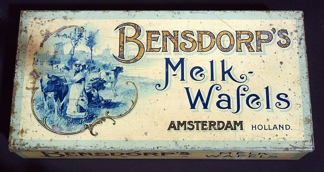 Bensdorp, Melk Wafels, Box, Tin, Package, Old, Retro