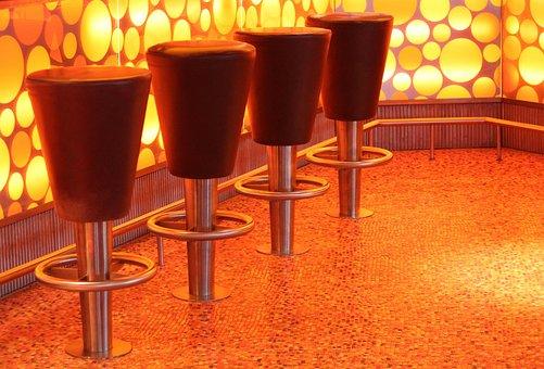 Bar, Bar Stool, Stool, Sit, Chairs, Metal, Leather