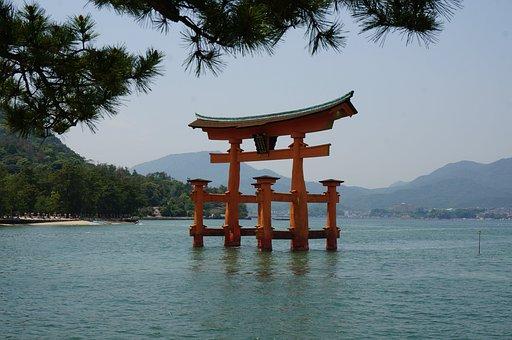 Sea, Japan, Hiroshima, Miyajima