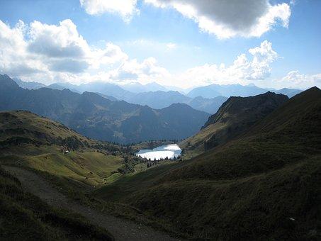 Oberstdorf, Foghorn, Summer, Mountaineering, Mountains