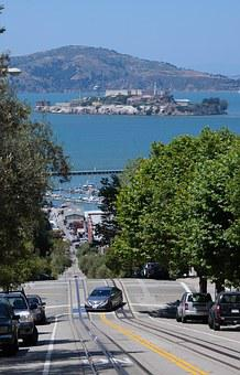 Alcatraz, San Fransisco, Usa, Water, Summer, Natural