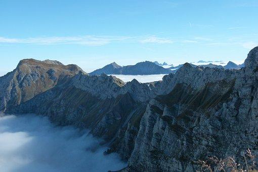 Foghorn, Climbing, North Walls, Fog
