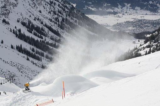 Ski, Snow, Sun, Snow Making System, Oberstdorf, Foghorn