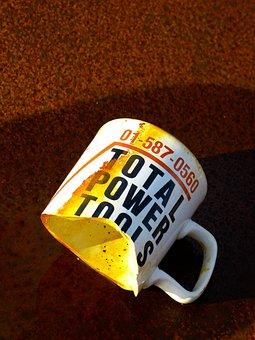 Cup, Broken, Old, Ceramic, Shard