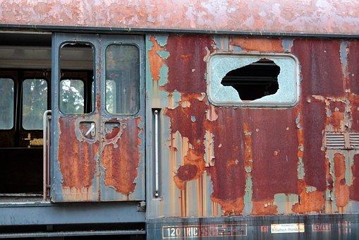 Wagon, Glass, Window, Railway Station, Railway, Old