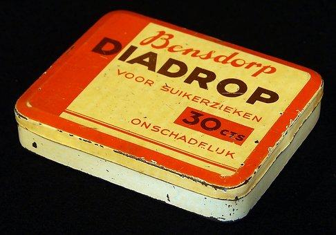 Bensdorp, Diadrop, Box, Tin, Package, Old, Retro