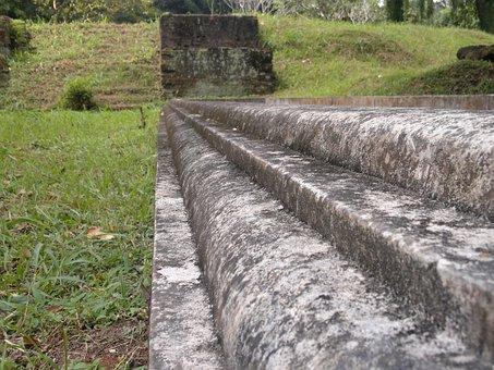Steps, Stone, Landscapes, Ceylon, Peradeniya, Kandy