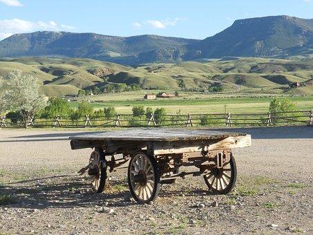 Wagon, Prairie, Vintage, Antique, West, Pioneer