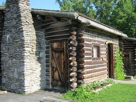 Boonesborough, Cabin, Fort, Pioneer, Revolutionary
