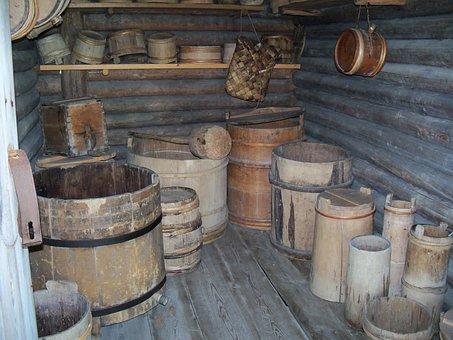 Barrels, Store Room, An, Keg, Storage, Cask, Pioneer