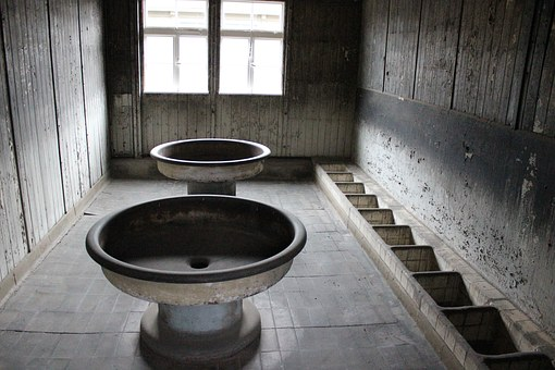 Concentration Camp, Prison Bathroom, Prison, Washbasin