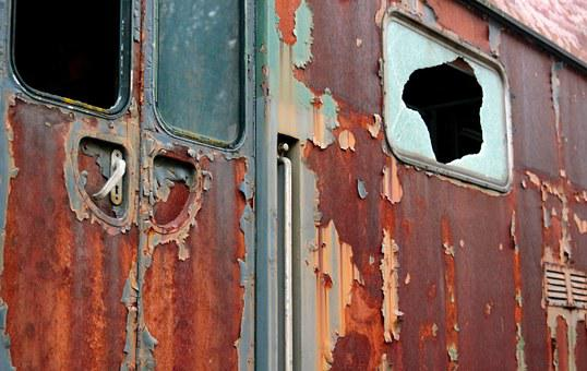 Wagon, Trains, Railway Station, Railway, Old, Rusted