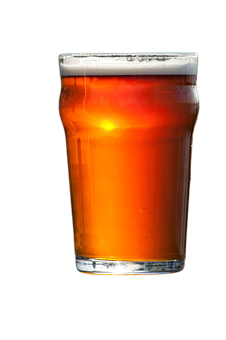 Beer, Drink, Alcohol, Red, Amber, Glass, Png