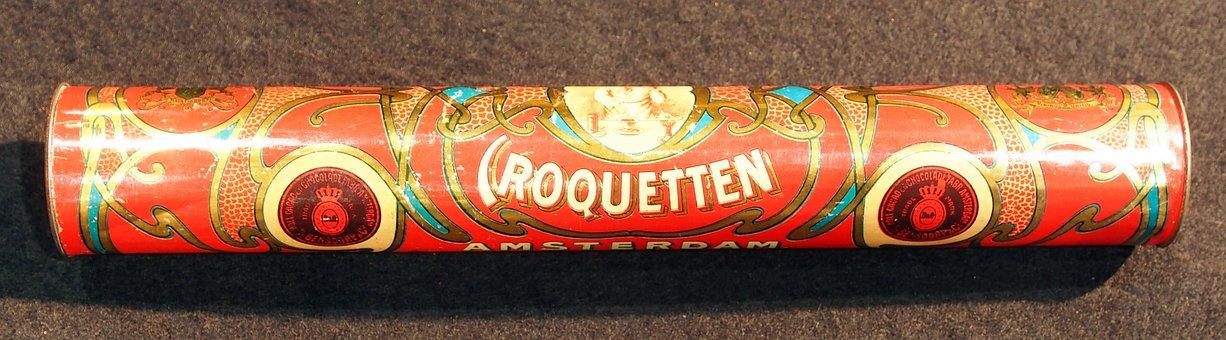 Bensdorps, Croquetten, Box, Tin, Package, Old, Retro